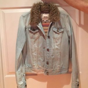 Light blue jean jacket by forever21